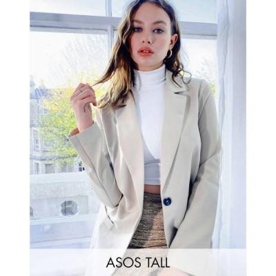 エイソス ASOS Tall レディース スーツ・ジャケット アウター ASOS DESIGN Tall mansy suit blazer in mocha キャメル