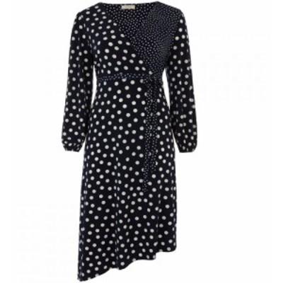 オアシス Oasis レディース ワンピース ワンピース・ドレス Curve Patch Spot Midi Dress* Blue Multi