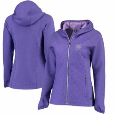Sunice サンアイス スポーツ用品  Womens 2017 U.S. Open Sunice Purple Elsa Quilted Thermal Stretch Full-Zip Jacket