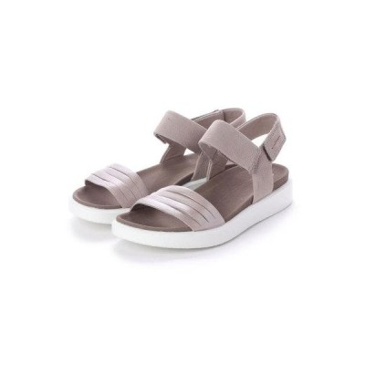 エコー ECCO FLOWT W Flat Sandal (MOON ROCK SILVER/WARM GREY METALLIC)