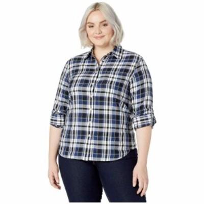 ラルフ ローレン LAUREN Ralph Lauren レディース ブラウス・シャツ 大きいサイズ トップス Plus Size Classic Cotton Shirt Black/Blue