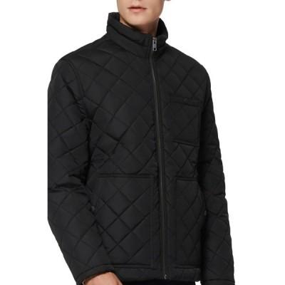 アンドリューマーク メンズ ジャケット&ブルゾン アウター Elroy Quilted Jacket BLACK