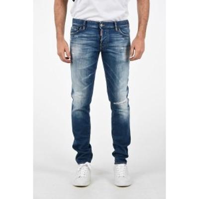 DSQUARED2/ディースクエアード Blue メンズ 16cm Vintage Effect SLIM FIT Jeans dk