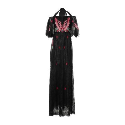 テンパリー・ロンドン TEMPERLEY LONDON ロングワンピース&ドレス ブラック 16 ナイロン 100% ロングワンピース&ドレス