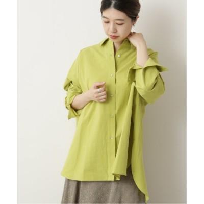 【ミューカ】 東炊き80ブロードBIGシャツ レディース グリーン FREE mjyuka