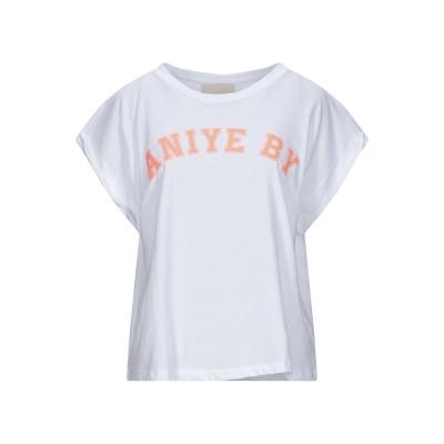 アニヤバイ ANIYE BY T シャツ ホワイト XS コットン 100% T シャツ