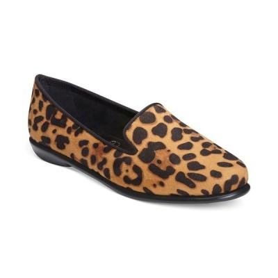 エアロソールズ サンダル シューズ レディース Women's Betunia Casual Flats Leopard Tan