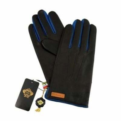 OROBIANCO オロビアンコ メンズ手袋 ORM-1530 Leather glove 羊革 ウール BLACK BLUE 8.5(24cm) 手袋 プレゼント クリスマス【送料無料】