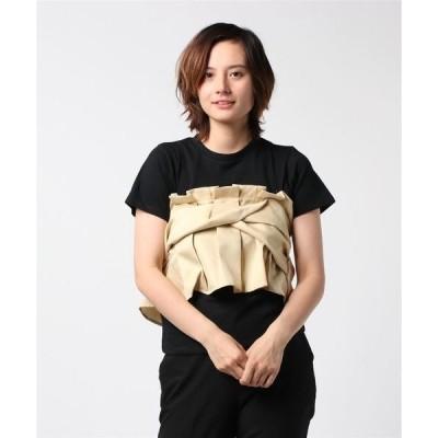 tシャツ Tシャツ 30sT/C 天竺×Eツイル ビスチェ ドッキングTシャツ