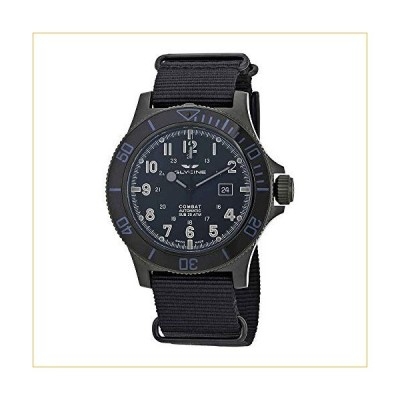 Glycine Combat SUB Automatic Black Dial Men's Nylon Watch GL0098 並行輸入品