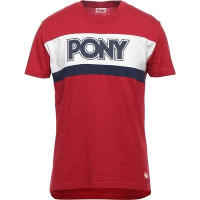 ポニー PONY メンズ Tシャツ トップス t-shirt Red