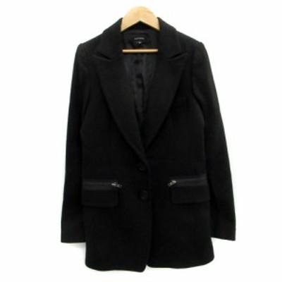 【中古】エゴイスト EGOIST ジャケット テーラード ロング丈 ウール混 S ブラック 黒 /MS4 レディース