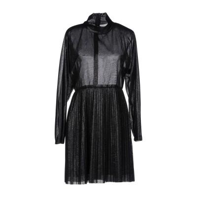 フェデリカ・トシ FEDERICA TOSI ミニワンピース&ドレス ブラック 42 ポリエステル 55% / レーヨン 45% / アセテート /