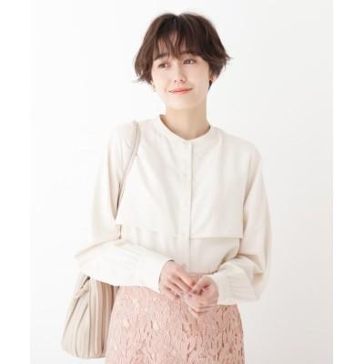 【AG バイ アクアガール】 スタンドカラーサテンシャツ レディース オフホワイト 36(S) AG by aquagirl