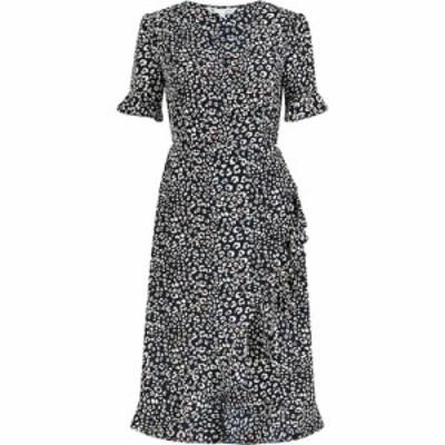 ユミ Yumi レディース ワンピース ラップドレス ワンピース・ドレス Navy Animal Print Wrap Dress Navy