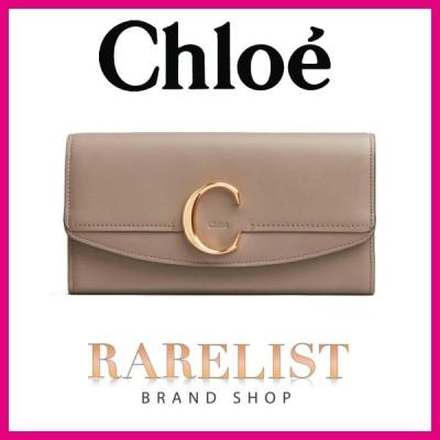 クロエ Chloe 財布 長財布 モッティーグレー ゴールド レザー 本革