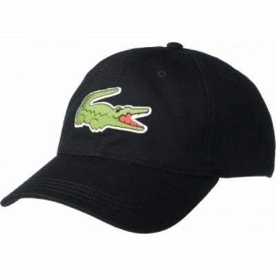 ラコステ Lacoste メンズ キャップ 帽子 Big Croc Twill Leatherstrap Cap Black