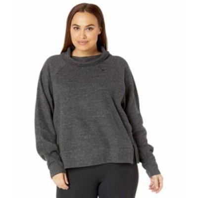 ナイキ レディース パーカー・スウェット アウター Plus Size Therma Fleece HPNLT Pullover Cowl Black Heather/Black