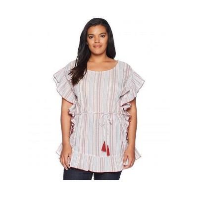 B Collection by Bobeau ビーコレクション レディース 女性用 ファッション ブラウス Plus Size Anara Striped Blouse - Rainbow Stripe