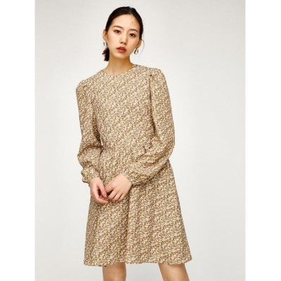 【マウジー】 FLORAL CLASSIC MINI ドレス レディース 柄BEG5 1 MOUSSY