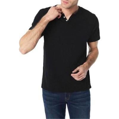 ジョーズジーンズ Joe's Jeans メンズ Tシャツ ヘンリーシャツ トップス Wintz Short Sleeve Slub Henley Black