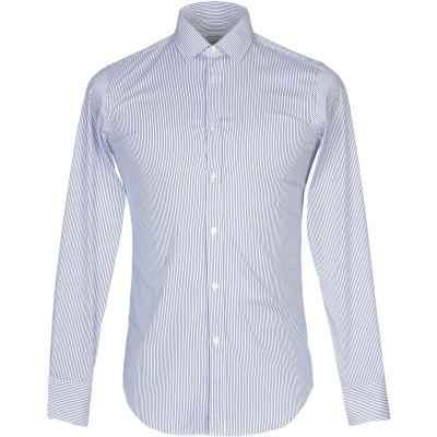 マウロ グリフォーニ MAURO GRIFONI シャツ ブルー 37 コットン 75% / ナイロン 20% / ポリウレタン 5% シャツ