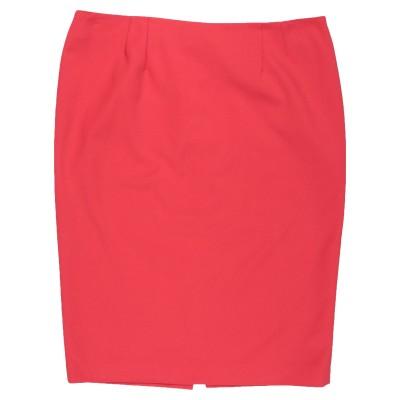 CLIPS MORE ひざ丈スカート レッド 44 コットン 48% / ポリエステル 48% / ポリウレタン 4% ひざ丈スカート