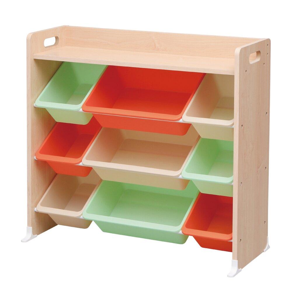 【IRIS OHYAMA 愛麗思歐雅瑪】 木質天板童心玩具收納架 TKTHR-39 (繽紛/紅蘿蔔/卡布奇諾)(兒童學習/收納/玩具/日本設計) -|日本必買|日本樂天熱銷Top|日本主婦必買