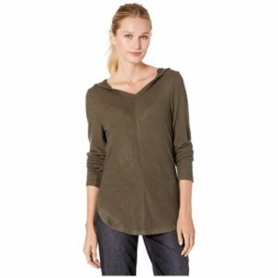ボボウ B Collection by Bobeau レディース ニット・セーター トップス Sweater Hoodie Olive/Copper