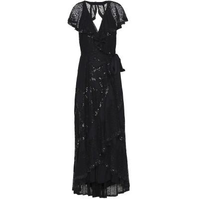 テンパリー・ロンドン TEMPERLEY LONDON 7分丈ワンピース・ドレス ブラック 12 ナイロン 100% 7分丈ワンピース・ドレス