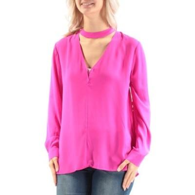 レディース 衣類 トップス 1. STATE Womens Pink Cuffed V Neck Top Size: S ブラウス&シャツ
