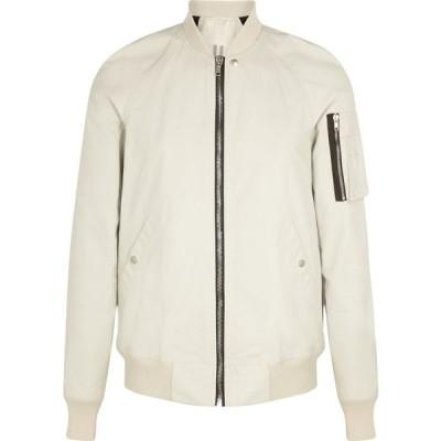 リック オウエンス Rick Owens メンズ ブルゾン ミリタリージャケット シェルジャケット アウター grey shell bomber jacket Natural