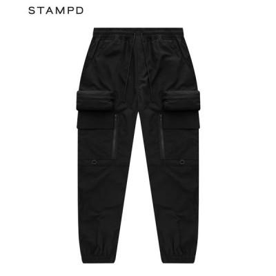 STAMPD スタンプド カーゴパンツ メンズ HELIX CARGO PANTS V2 ブラック SLA-M2623PT パンツ ボトムス ユーティリティパンツ ストリート 送料無料