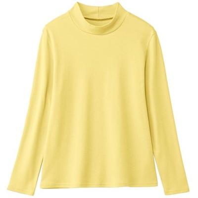 あったかシンプルハイネックTシャツ(綿100%・蓄熱保温・吸湿発熱・洗濯機OK)/ジャスミンイエロー/M