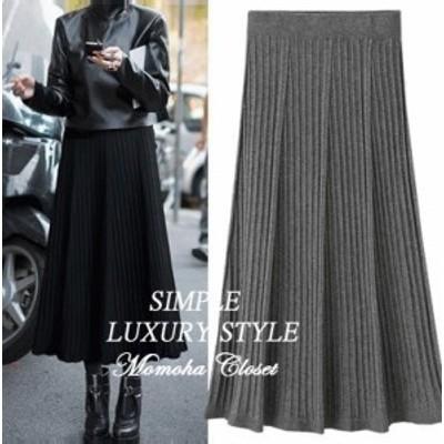 自分にご褒美 オルチャン服 オルチャン ファッション 韓国 レディースファッション  プリーツスカート ロング 大きいサイズ レディース