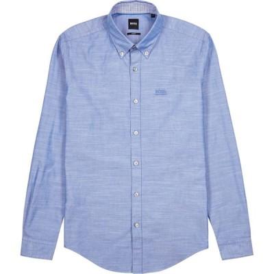 ヒューゴ ボス BOSS メンズ シャツ トップス Rod Blue Stretch-Cotton Shirt Blue
