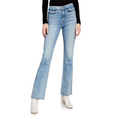 セブンフォーオールマンカインド レディース デニムパンツ ボトムス Modern 'A' Pocket Flare-Leg Jeans