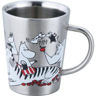 【山加商店】MOOMIN ステンレス ムーミン 二重マグ(アニマル)北欧 おしゃれ かわいい 保温 保冷 二重構造 マグカップ