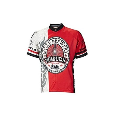 World Jerseys Men's Moab Brewery Hoppy Cycling Jersey (Large)
