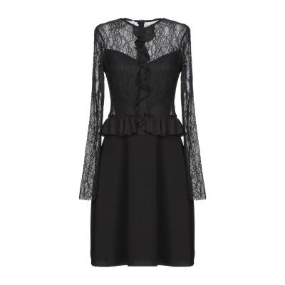 TENAX ミニワンピース&ドレス ブラック 42 ポリエステル 57% / ナイロン 43% ミニワンピース&ドレス
