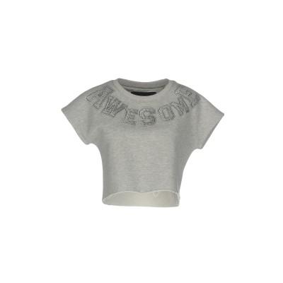 PHILIPP PLEIN スウェットシャツ ライトグレー S コットン 100% スウェットシャツ