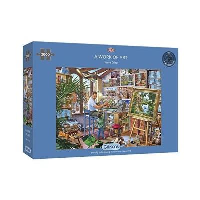 限定価格Gibsons A Work of Art Jigsaw Puzzle (2000 Pieces)送料無料