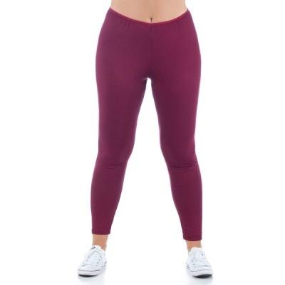 24セブンコンフォート カジュアルパンツ ボトムス レディース Women's Plus Size Comfortable Ankle Length Stretch Leggings Wine
