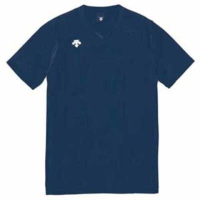 デサント 男女兼用 バレーボール V首半袖ゲームシャツ(NVY・L) DESCENTE DS-DSS4321-NVY-L 【返品種別A】