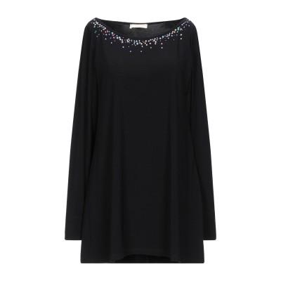 MARANI JEANS T シャツ ブラック 40 レーヨン 90% / ポリウレタン 10% T シャツ