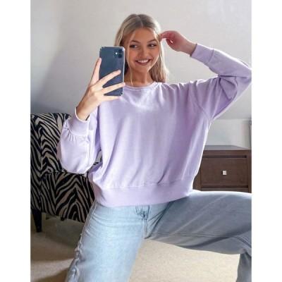 ニュールック New Look レディース スウェット・トレーナー トップス Sweatshirt In Lilac ライラック
