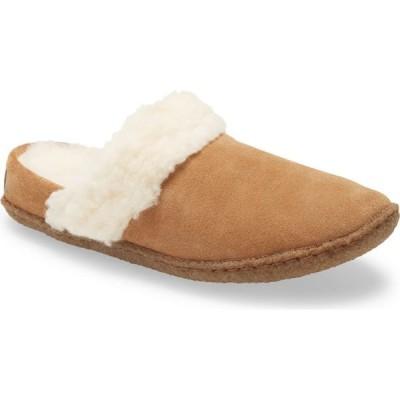 ソレル SOREL レディース スリッパ シアリング シューズ・靴 Nakiska II Faux Shearling Lined Slide Slipper Camel Brown/Natural