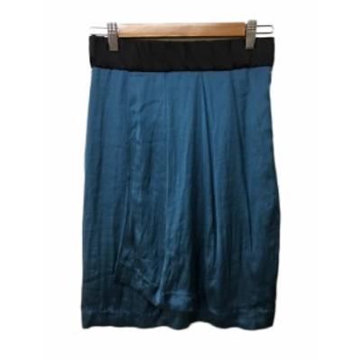 【中古】ボールジー トゥモローランド スカート タイト 巻き ひざ丈 36 緑 黒 グリーン ブラック レディース