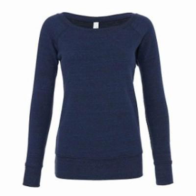 ファッション トップス Bella + Canvas Womens Sponge Fleece Wide Neck Sweatshirt B7501