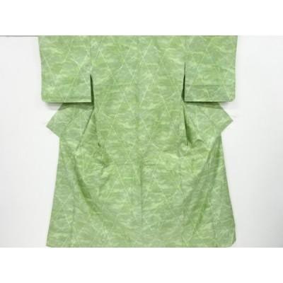 宗sou 霞模様織り出し十日町紬着物【リサイクル】【着】